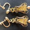 Victorian Etruscan Revival earrings, probably 15k