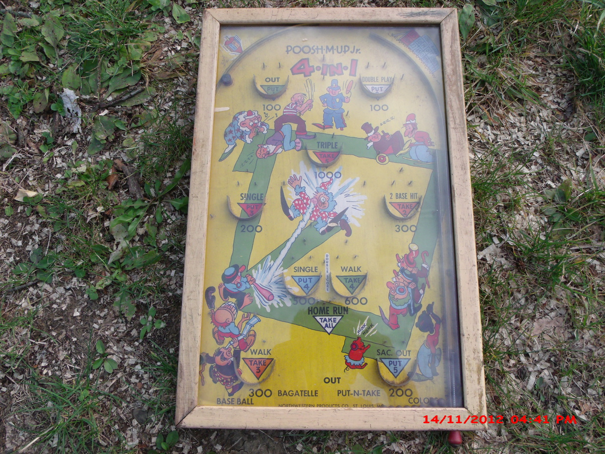 Strange My Old 1946 Poosh M Up Jr Bagatelle Table Top Pinball Game Interior Design Ideas Gentotryabchikinfo