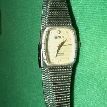 Antique Benrus Diamond Quartz Ladies Watch