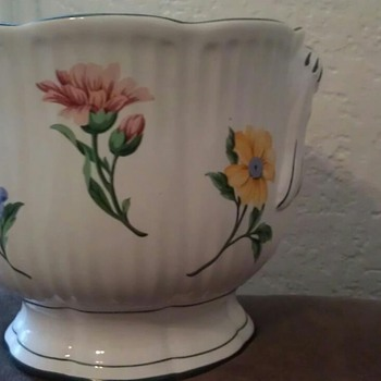 Tiffany vase with Painted flowers - Pottery