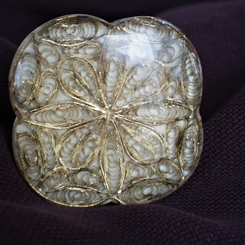 Gold Filigree Wire Glass Drawer Pulls Old?  - Tools and Hardware