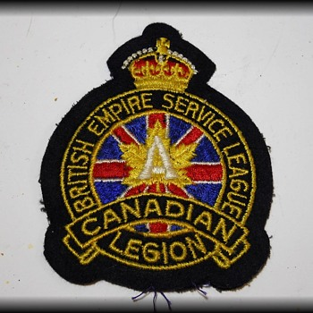 Dad's RCAF Cap ( and Legion Patch ) - Military and Wartime