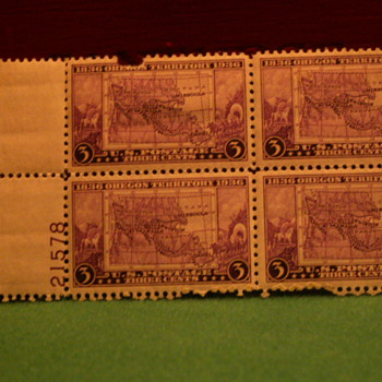 1936 Oregon Territory 3 Cents Stamps
