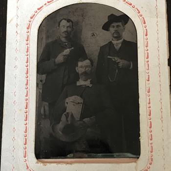 Wild  West Mystery Men Tintype  - Photographs