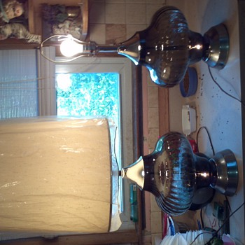 I got these lamps from my aunt a few years ago.  - Lamps