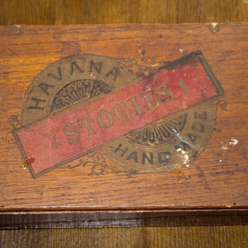 Havana Stogies hand made ciger wooden box - Tobacciana