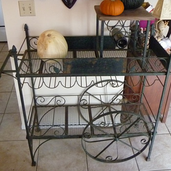 Antique (I believe) Wine Rack - Cart Style - Need Info - Kitchen