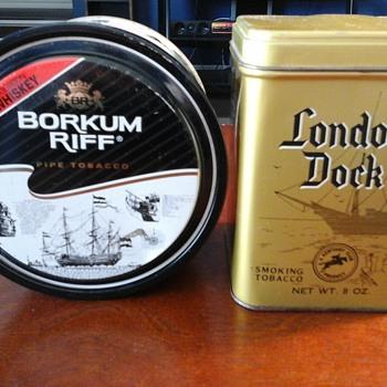 Borkum Riff London Dock tins - Tobacciana