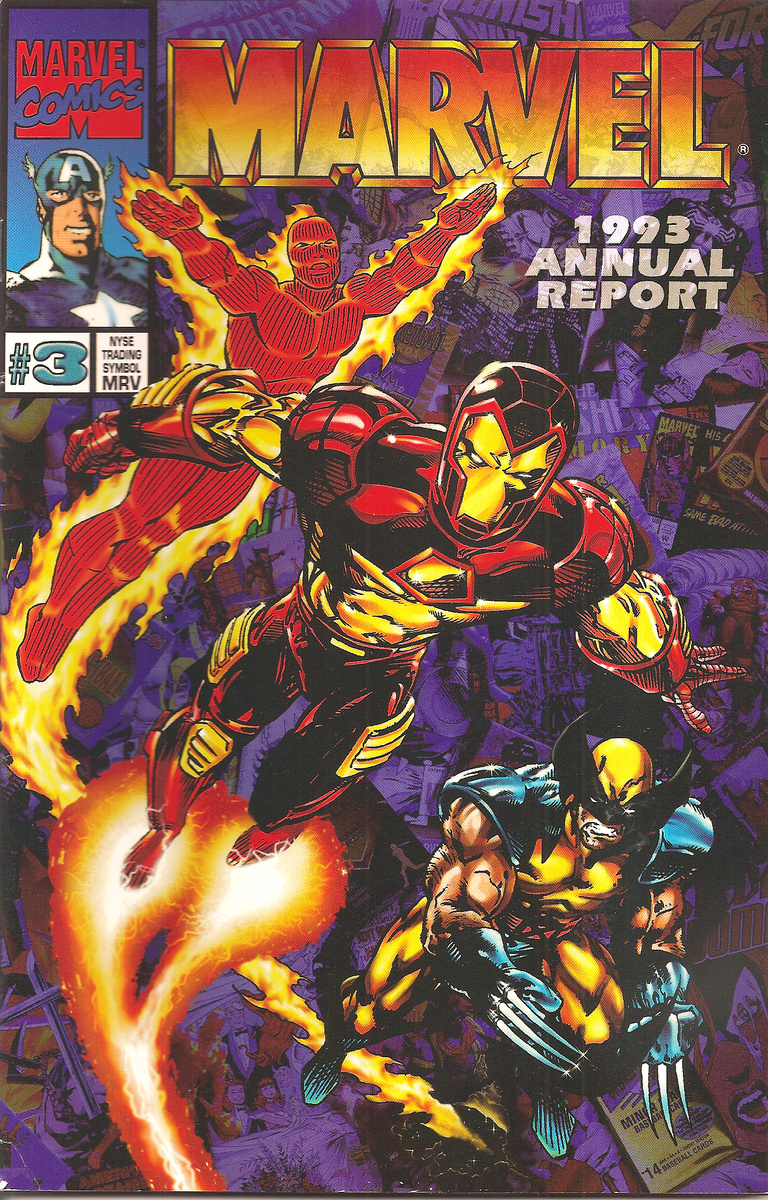 Marvel Annual Report 1993 Collectors Weekly