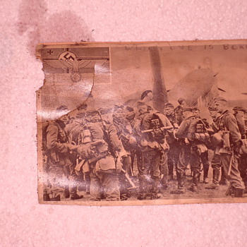 FOUND IN A FIREPLACE IN KENTUCKY-NAZI POSTCARD - Military and Wartime