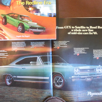 Chrysler Plymouth 1968 New Model Advertisements In 1967 Post Magazine - Advertising