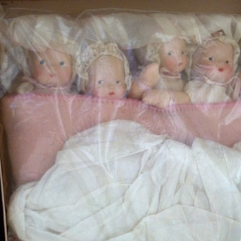 Vintage Dionne Cloth Infant Cryer Babies