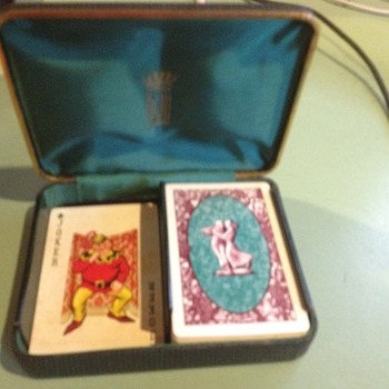 KEM cards vintage dancing couple with case