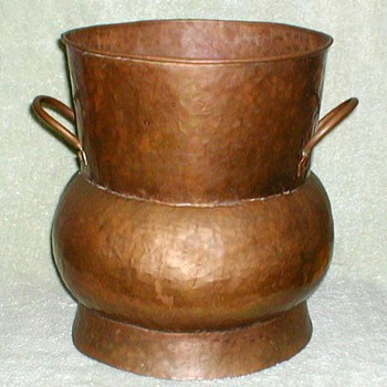 Copper-Bronze Handled Pot