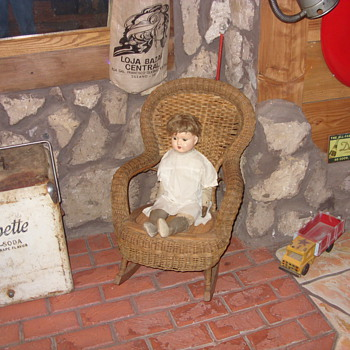 childs heywood wakefield wicker rocker - Furniture