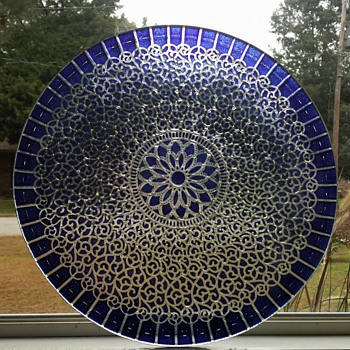 Beautiful Art Glass Platter  - Art Glass