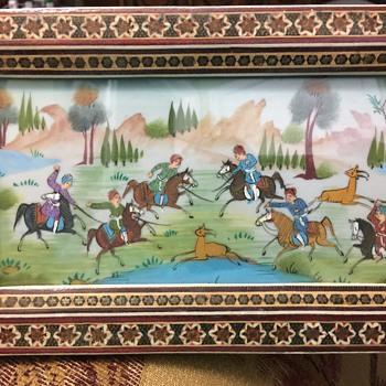 Khatam-kari picture - Fine Art