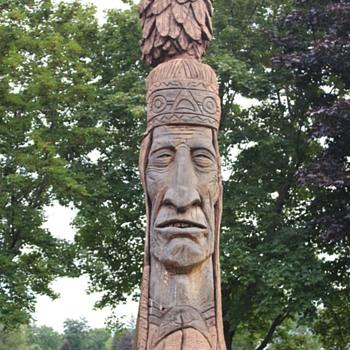 Opechee Park Indian statue..... - Fine Art