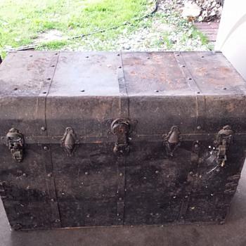 Old Metal Trunk - Furniture
