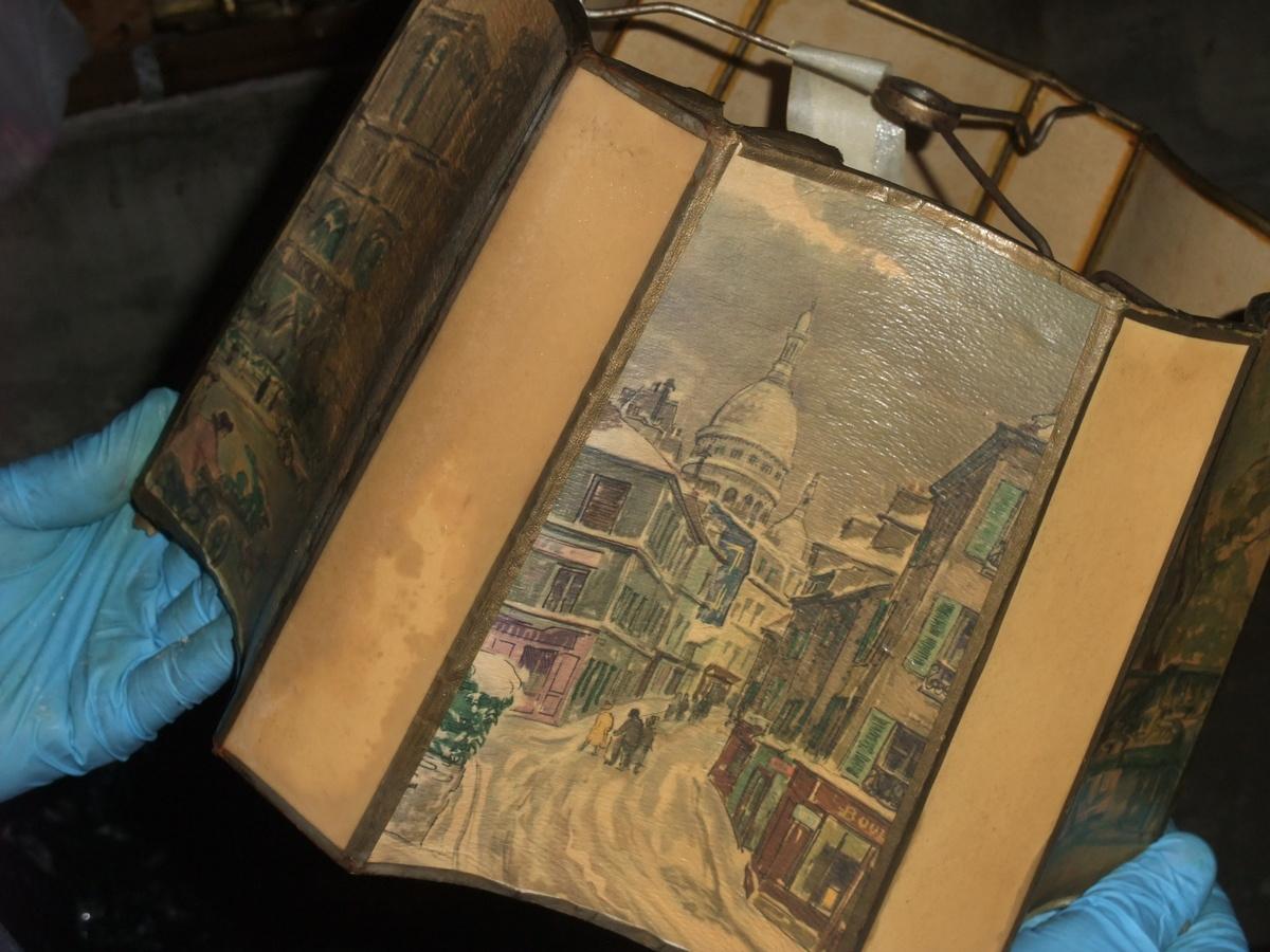 Unusual Vintage Parchment Floor Lamp Shade Collectors Weekly