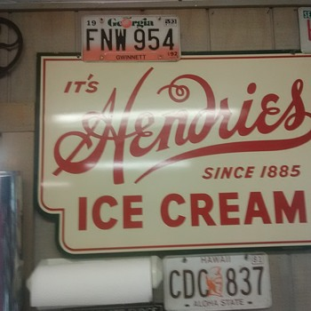 Old Hendries Ice Cream sign - Signs