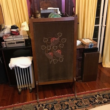 Craftsman Fireplace Screen With Original Tapestry - Furniture