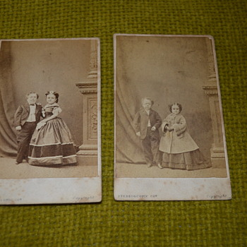 Victorian photo album - part II, General Tom Thumb and his wife - Photographs