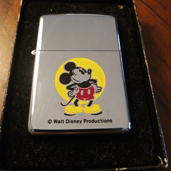 1980 mickey mouse high polish zippo lighter never used - Animals