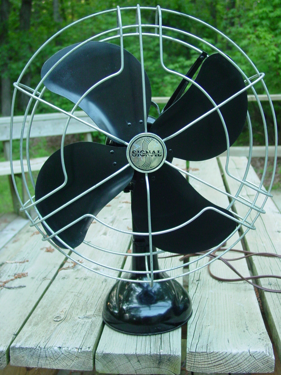 1940s Signal Model 1251 Black 3 Speed Oscillating Fan Collectors Wire Diagram Weekly