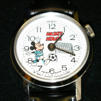 Bradley Animated Mickey Soccer Watch - Wristwatches