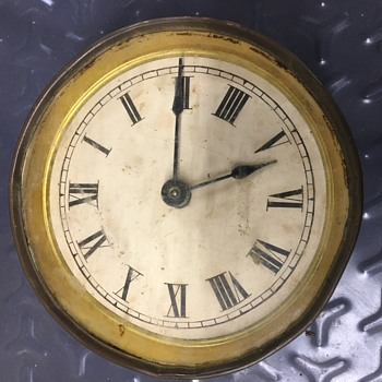 5 Inch antique brass round clock - Clocks