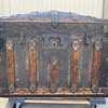 Beautiful Martin Maier Floral Tin Trunk