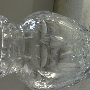 Glass or cristal vase with no marks .