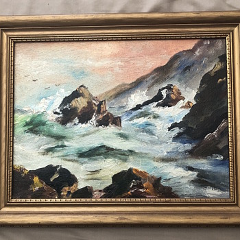 1953 oil on canvas from Providence  - Fine Art