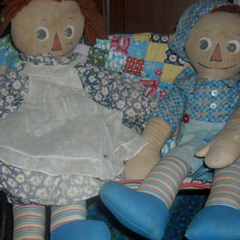 Molly-es Raggedy Ann and Andy
