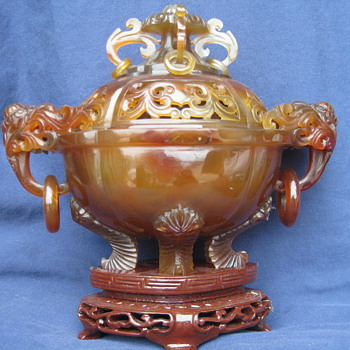brown jade dish