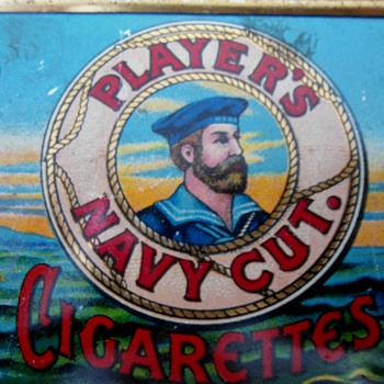 1928 Players cigarette tin - Advertising