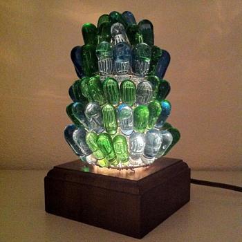 Czech Beaded Figural Lamp Shade