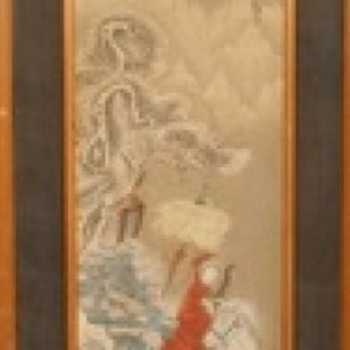 Antique Chinese paintings - Asian