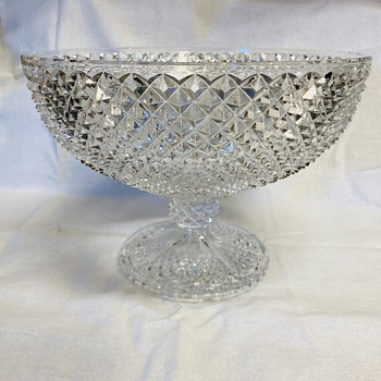 Cut Glass Pedestal Compote - Glassware