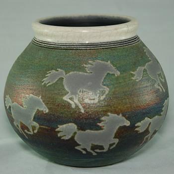Jeremy Diller Raku Pottery - Pottery