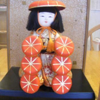 Japanese hat vendor doll