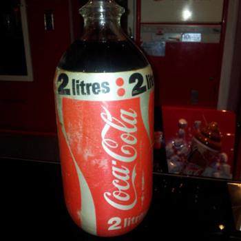Aussie 2lt foam wrapped bottle 80's