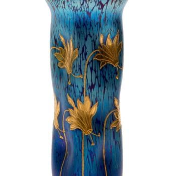 Loetz Cobalt Papillion PN II/437 Franz Hofstötter. 1900. - Art Nouveau