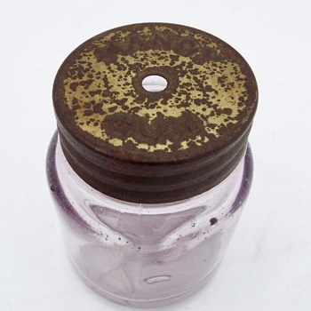 Small Amethyst jar with Lid  - Bottles
