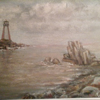 Lighthouse Painting  - Fine Art