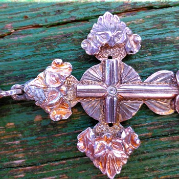 Interesting Greek/Russian Orthodox (or Protestant?) Silver Cross - Fine Jewelry