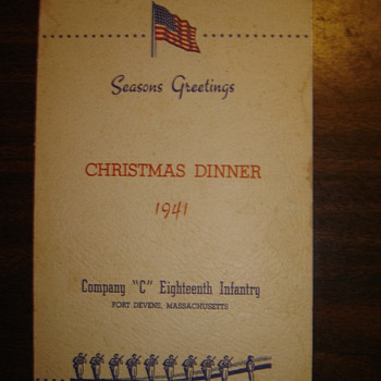 Old WWII Era Company Dinner - Military and Wartime