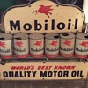 Mobil oil can rack