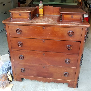 Vintage chest with glove boxes - Furniture